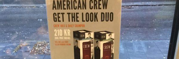 American Crew duo schampoo+wax 210kr